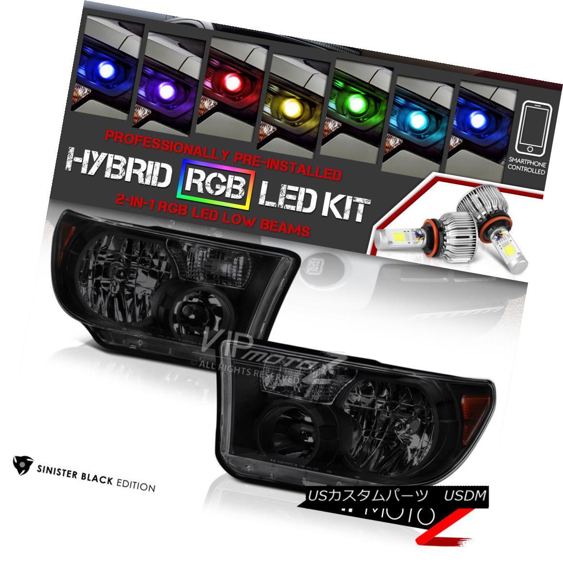 ヘッドライト 07-13 Toyota Tundra [ALL MODEL] Front Headlights [FLASHING MULTI-COLOR LOW BEAM] 07-13トヨタ・トンドラ[ALL MODEL]フロント・ヘッドライト[マルチ・カラー・ロウ・ビームの点滅]