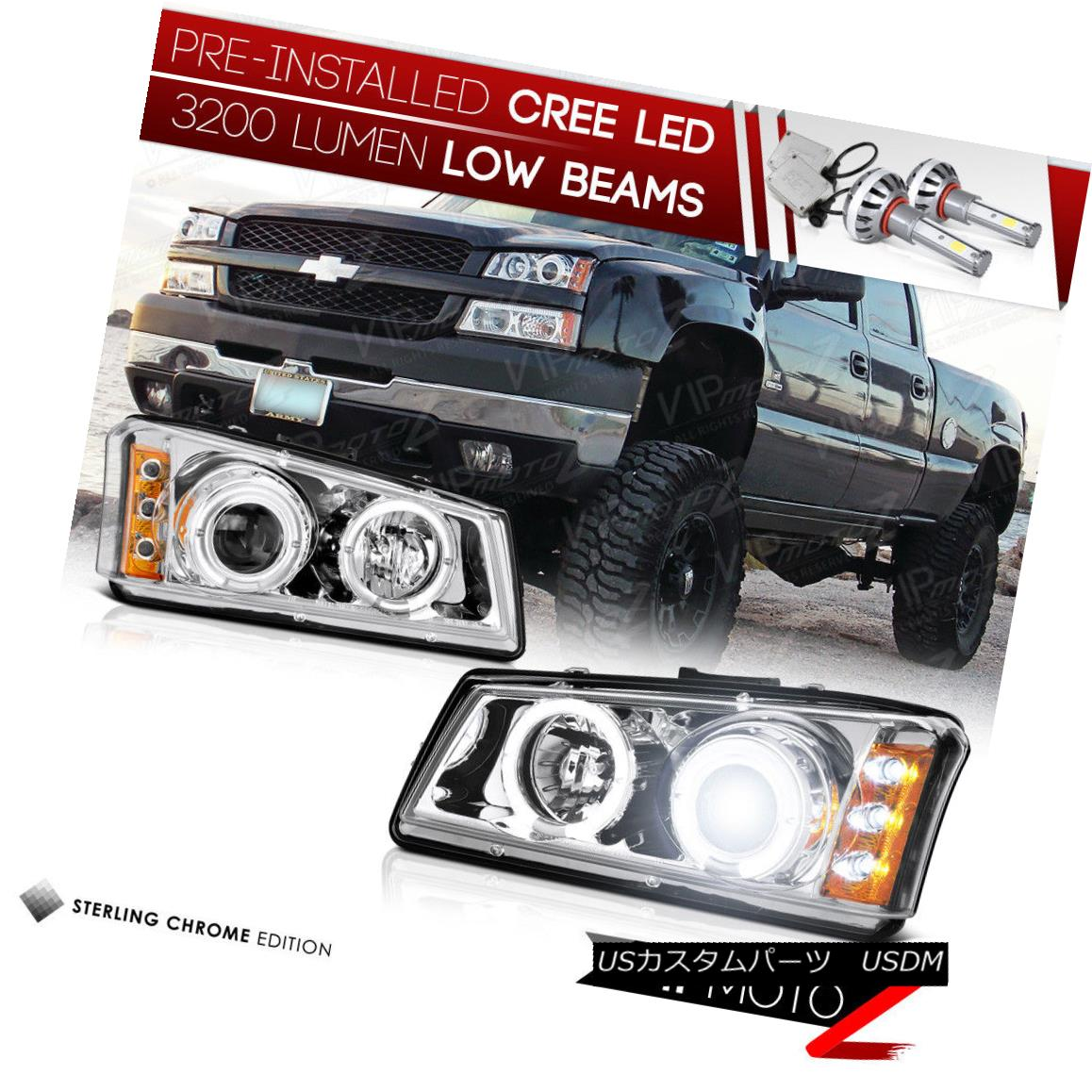 ヘッドライト [BUILT-IN LED LOW BEAM] 03-06 Chevy Silverado Headlights 04-06 Avalanche DRL SMD [内蔵LEDロービーム] 03-06 Chevy Silveradoヘッドライト04-06アバランチェDRL SMD
