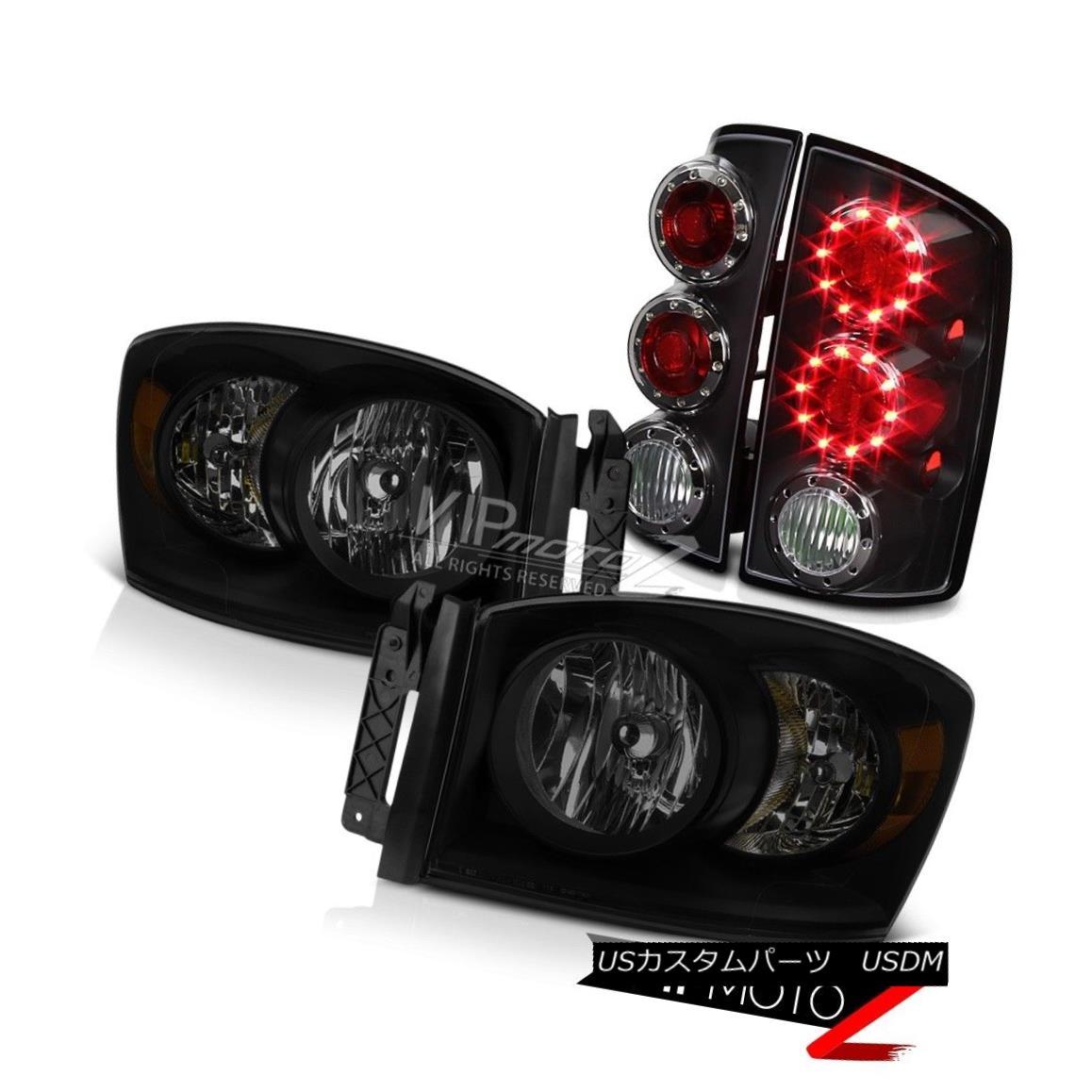 ヘッドライト 2006 Ram 1500 Headlamps Nighthawk Black Tail Lights Factory Style