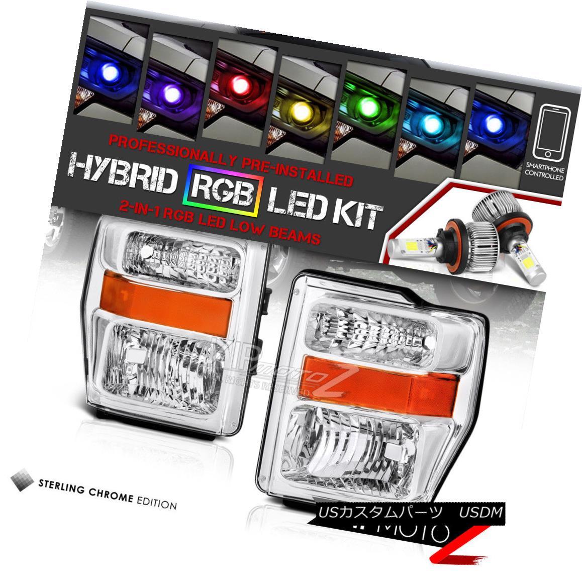 ヘッドライト [Multi-Color LED Low Beam] F250 F350 F450 F550 FORD 08-10 Superduty Head Lights [マルチカラーLEDロービーム] F250 F350 F450 F550フォード08-10 Superdutyヘッドライト
