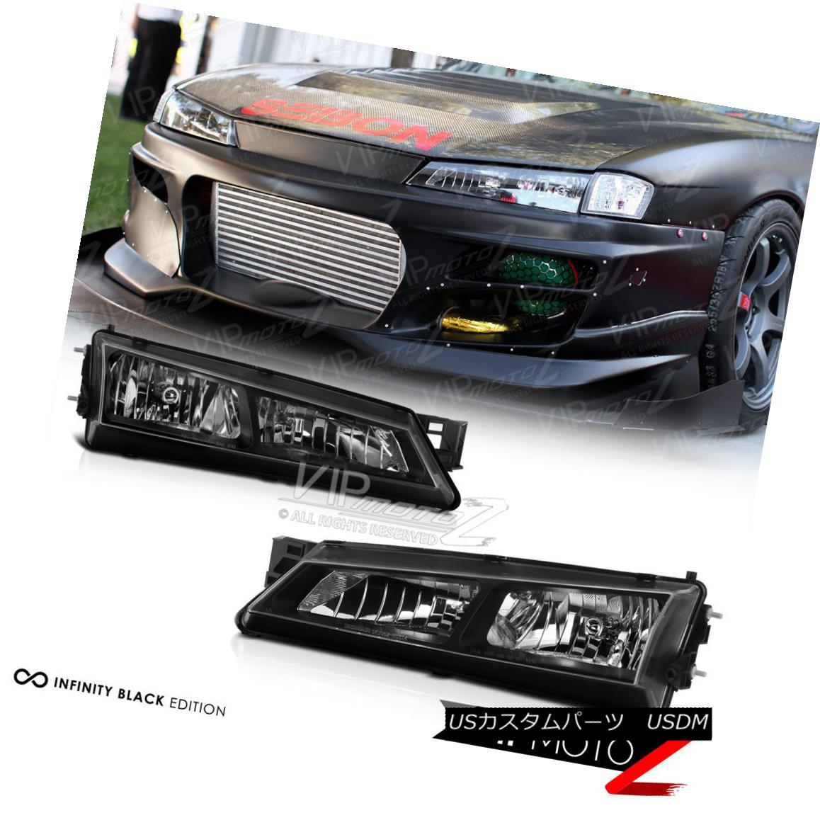 ヘッドライト For 240SX S14 1997-1998 Black Crystal Headlight JDM Silver SR20 KA24 KOUKI 240SX用S14 1997-1998ブラッククリスタルヘッドライトJDMシルバーSR20 KA24 KOUKI