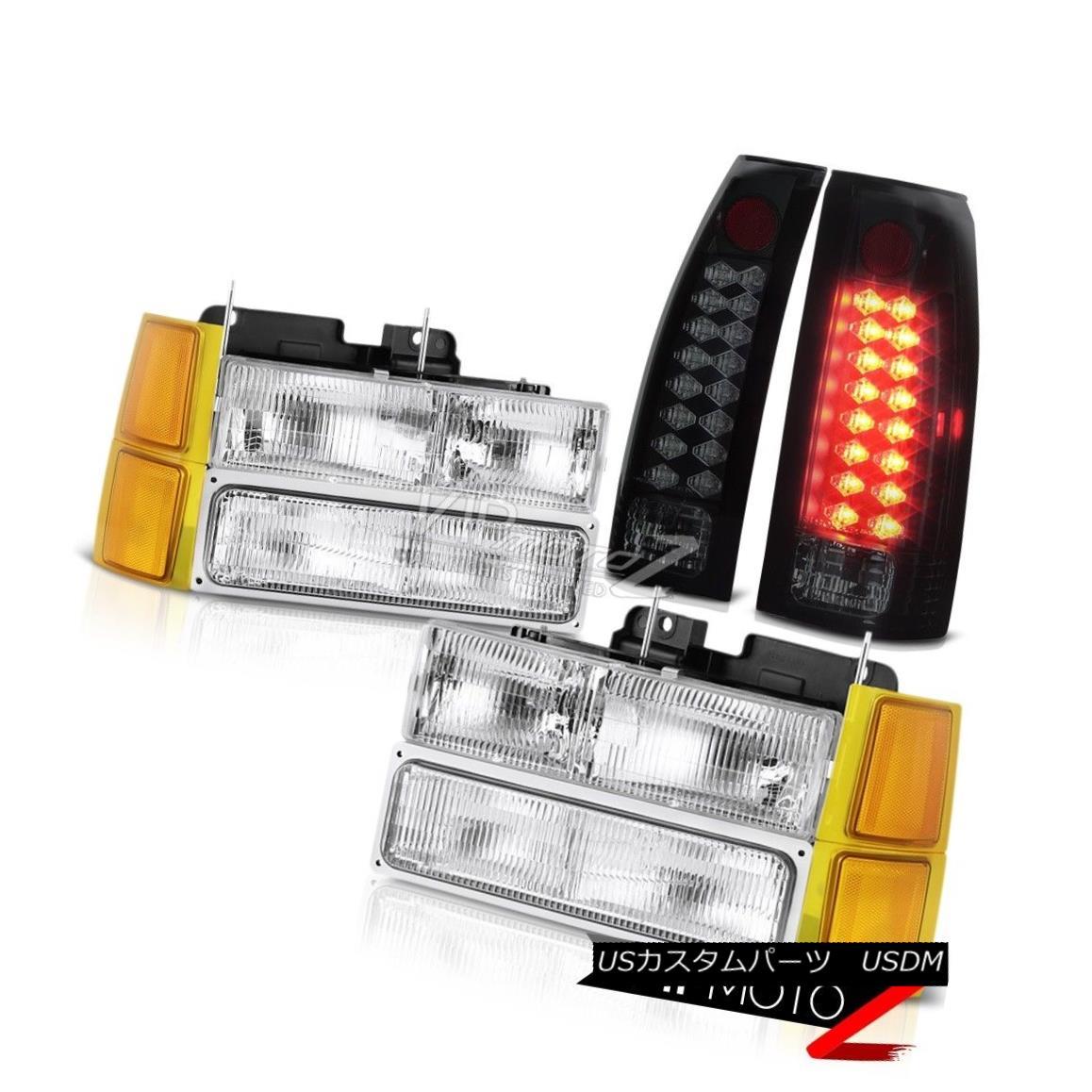 車用品 バイク用品 >> パーツ ライト ランプ 贈答 ヘッドライト 94-98 記念日 Chevy C K Pickup bumper LED KピックアップライトヘッドライトバンパーダークティンテッドテールOEスタイルLED dark Lights OE tail tinted SMD 94-98シボレーC headlamps Style