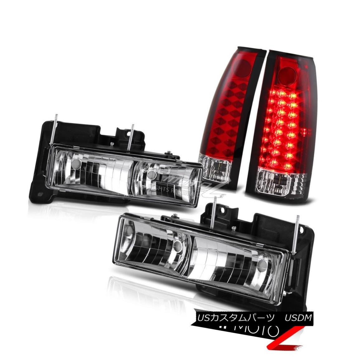 Front Signal Bumper Lights For 98 99 00 Toyota Tacoma 4wd Black Headlights