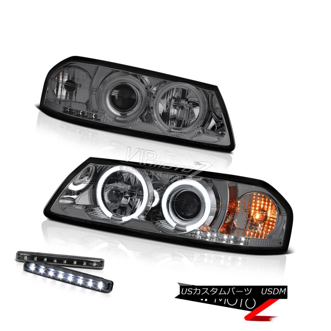 ヘッドライト >>LED LIGHT BAR KIT<< Smoke Projector Headlight+ CCFL Halo Rings 00-04 Impala &gt;&lt; LEDライトバーキット&lt; 煙プロジェクターヘッドライト+ CCFL Halo Rings 00-04インパラ