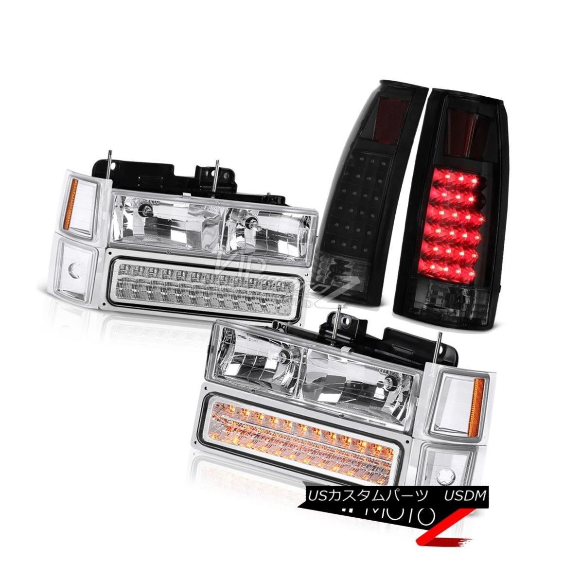 ヘッドライト 94-98 Chevy Silverado Sinister Black Taillamps Chrome Headlights Signal Parking 94-98 Chevy Silverado Sinister Black Taillampsクロームヘッドライト信号駐車場