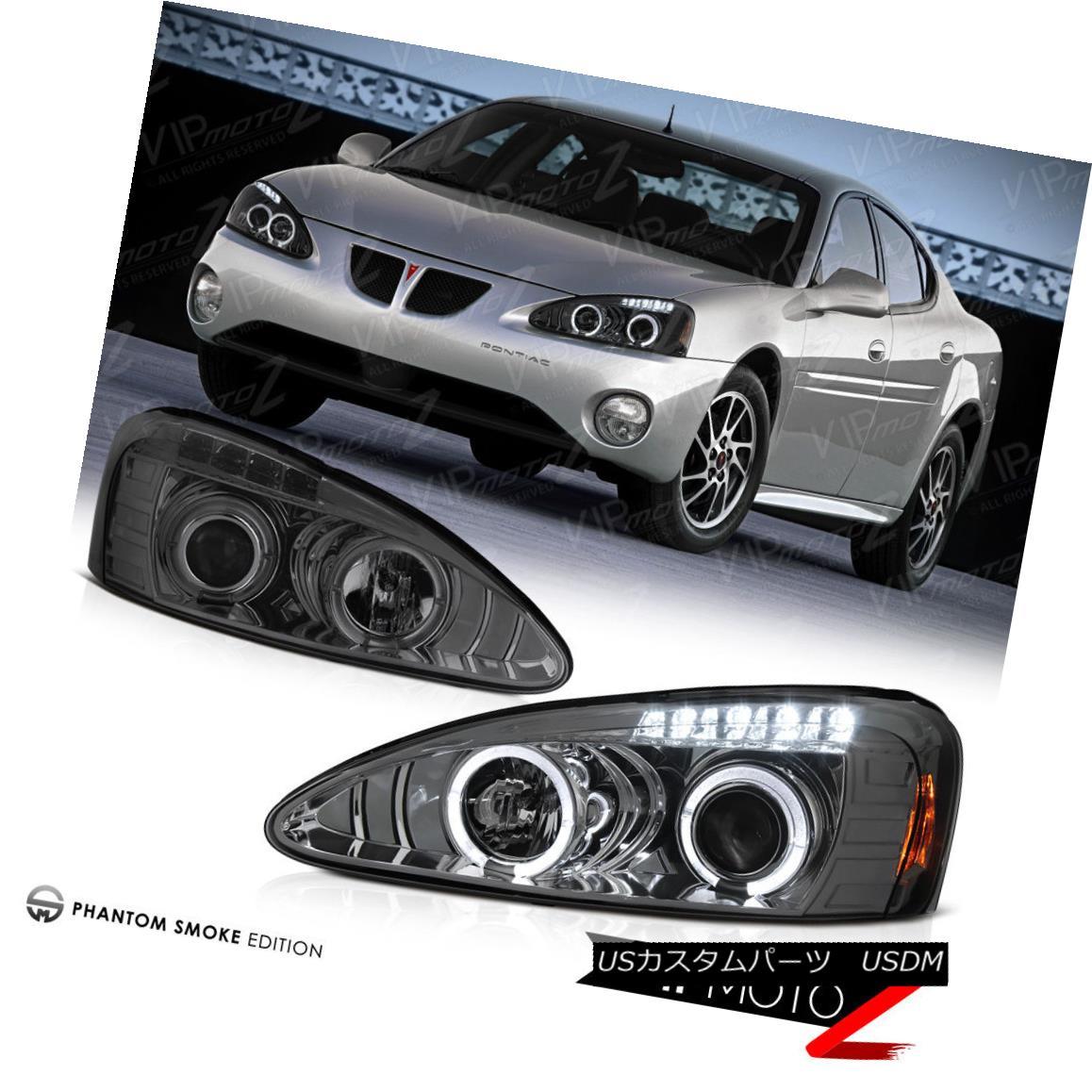 ヘッドライト 04-08 Pontiac Grand Prix GT GXP GTP L+R Halo Projector Smoke Headlight Lamp 04-08ポンティアックグランプリGT GXP GTP L + Rハロープロジェクタースモークヘッドライトランプ