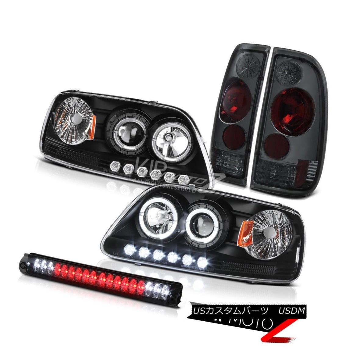 ヘッドライト Halo LED Headlight 1999 2000 2001 F150 XL Tinted Tail Light Roof Brake Lamp Tint Halo LEDヘッドライト1999年2000年2001年F150 XLテールテールライトルーフブレーキランプの色合い
