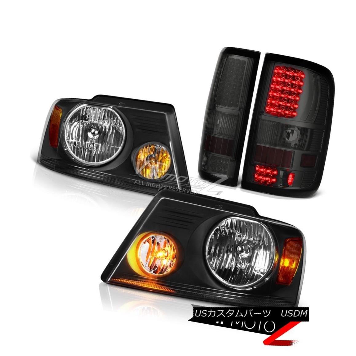ヘッドライト SMOKE LED Rear Tail Lights Black Amber Headlights 2004 2005 2006 2007 2008 F150 SMOKE LEDリアテールライトブラックアンバーヘッドライト2004 2005 2006 2007 2008 F150