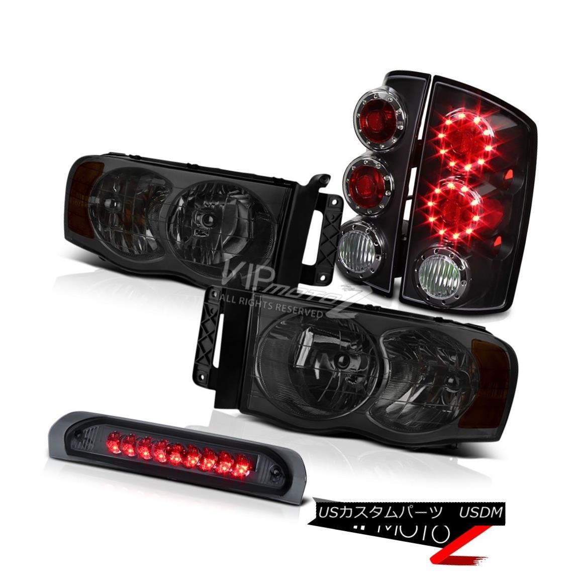 ヘッドライト Smoke Diamond Headlamp w/ Amber+Black LED Tail Lamp 02-05 Dodge RAM 琥珀色+黒LEDテールランプ付き煙ダイヤモンドヘッドランプ02-05 Dodge RAM