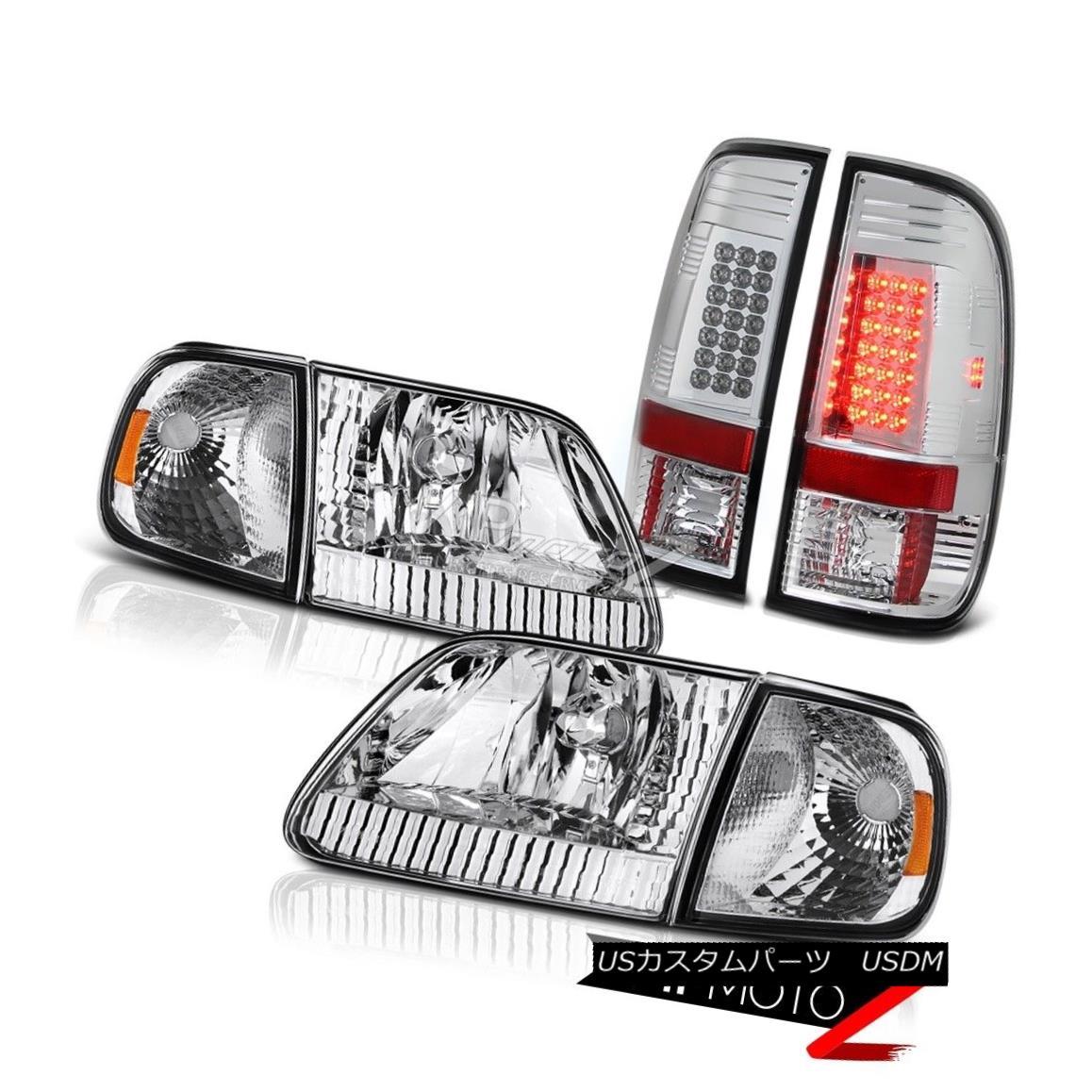 BRIGHT」LEDテールライト XLユーロクローム信号ヘッドライト「ULTRA Headlights Signal 1997-2003 Chrome Lights F150 XL BRIGHT