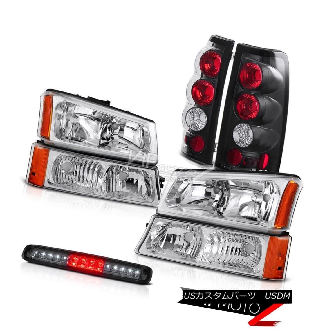 ヘッドライト 03-06 Chevy Silverado 1500 Chrome Bumper Light 3RD Brake Headlights Taillamps 03-06 Chevy Silverado 1500 Chrome Bumper Light 3RDブレーキヘッドライトテールランプ