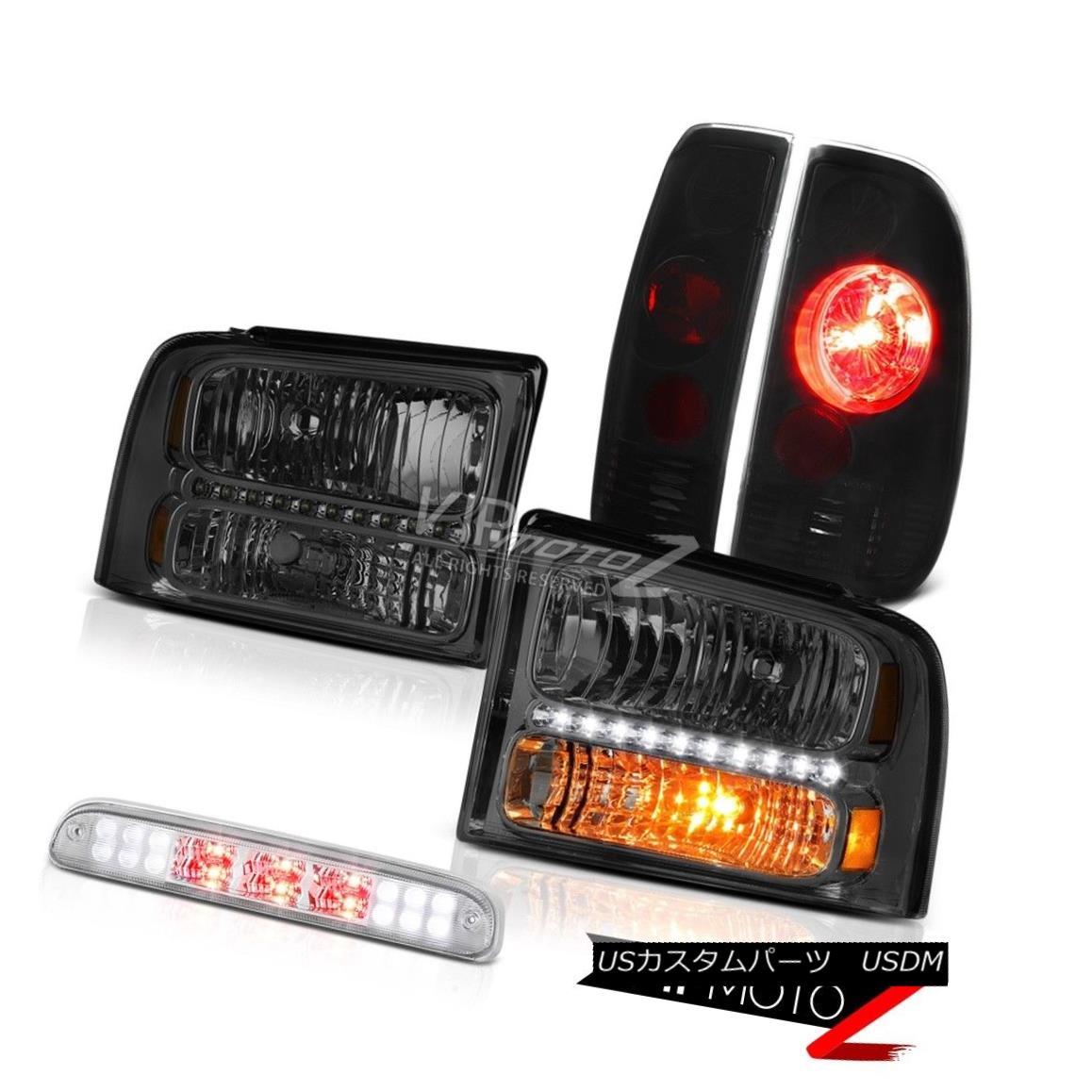 ヘッドライト Front Headlights Sinister Black Brake Lamps High Stop LED Chrome 05-07 F350 5.4L フロントヘッドライト不快なブラックブレーキランプハイストップLED Chrome 05-07 F350 5.4L