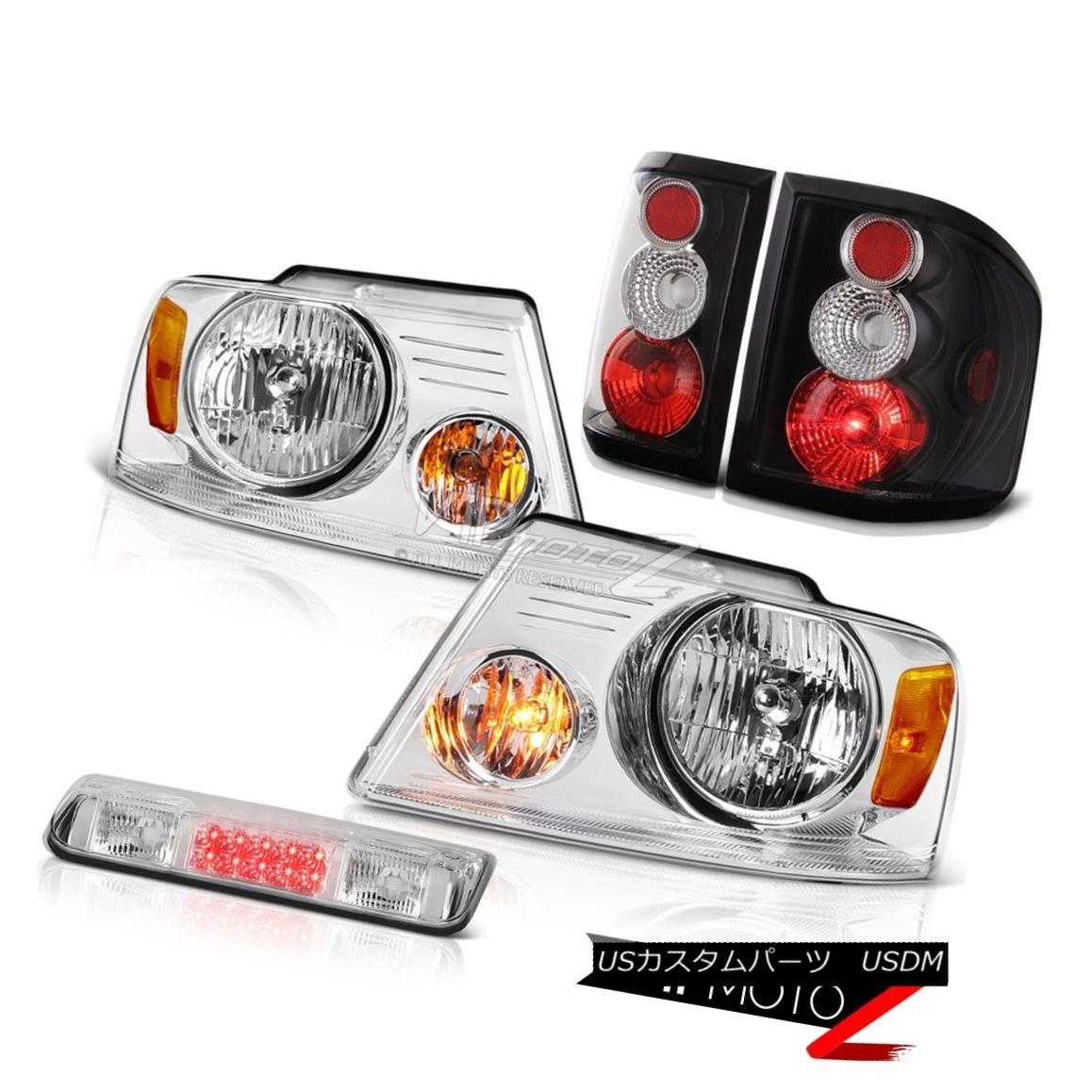 ヘッドライト 04-08 Ford F150 Flarside STX 3rd Brake Lamp Headlamps Black Rear Lights LED Euro 04-08 Ford F150 Flareside STX第3ブレーキランプヘッドランプブラックリアライトLEDユーロ