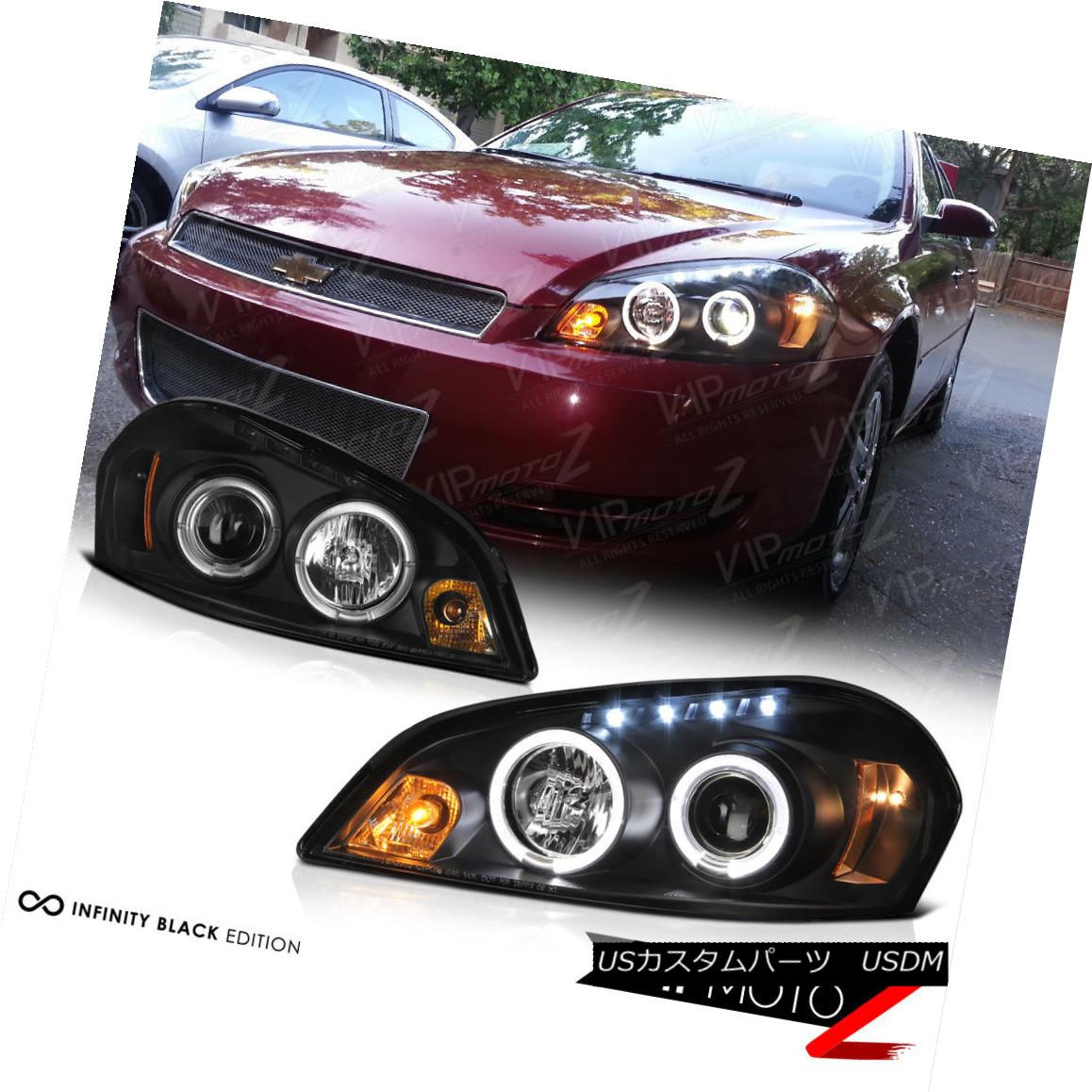 99-06 Sierra 00-06 Yukon XL Pearl Black Halo Projector Headlights Bumper Lamps