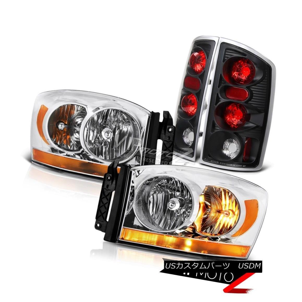 ヘッドライト 2006 Ram 5.9L Clear Chrome Headlamps Raven Black Taillights Altezza Replacement 2006ラム5.9LクリアクロームヘッドランプレイブンブラックテイルライトAltezzaの交換