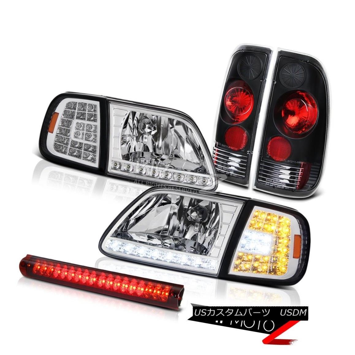 ヘッドライト 97-03 F150 XL Crystal LED Corner Headlight Signal Tail Light Black High Stop Red 97-03 F150 XLクリスタルLEDコーナーヘッドライト信号テールライトブラックハイストップレッド