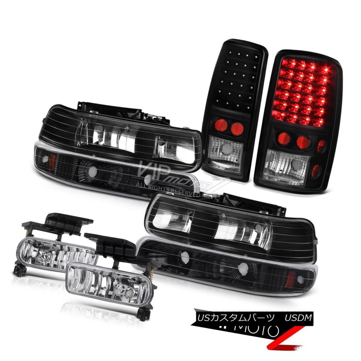 ヘッドライト 2000-2006 Tahoe Black Parking Headlights Tail Lights Assembly LED Driving Fog 2000-2006タホブラックパーキングヘッドライトテールライト組立LEDドライビングフォグ