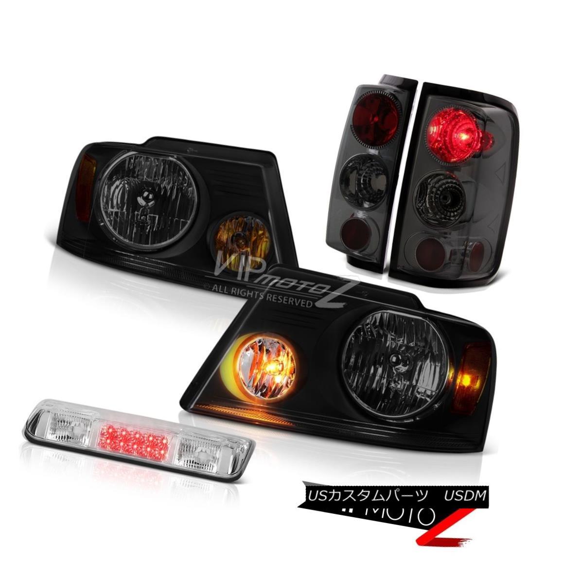 ヘッドライト 2004-2008 Ford F150 STX Roof Cargo Lamp Smoke Tinted Headlamps Tail Brake Lights 2004-2008フォードF150 STX屋根貨物ランプ煙がかかったヘッドランプテールブレーキライト