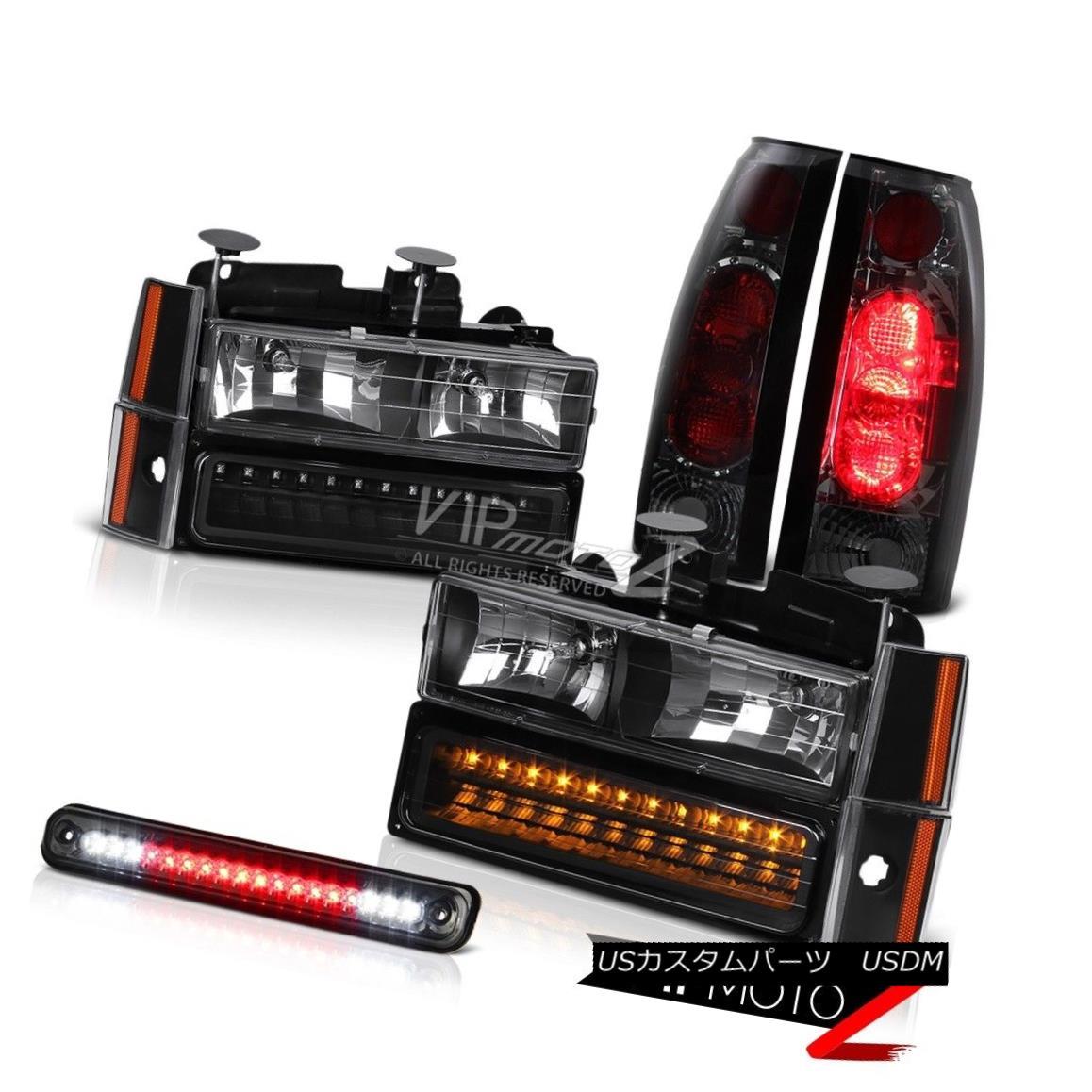 ヘッドライト 1988 1989 1990 1991 1992 1993 Chevrolet C1500 C2500 BLK Headlight LED Tail Light 1988 1989 1989 1990 1991 1992 Chevrolet C1500 C2500 BLKヘッドライトLEDテールライト