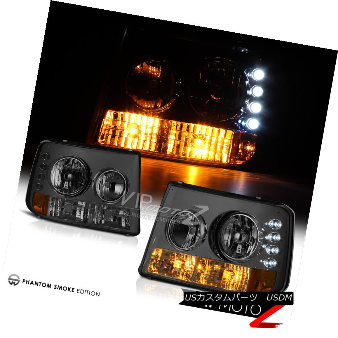ヘッドライト Smoke LED Headlights Left+Right Assembly Chevy Silverado 99-02 Suburban 1500 スモークLEDヘッドライトLeft + RightアセンブリChevy Silverado 99-02 Suburban 1500