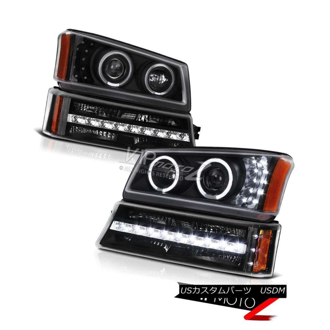 ヘッドライト 2003-2006 Avalanche 2500 Black signal light projector headlamps