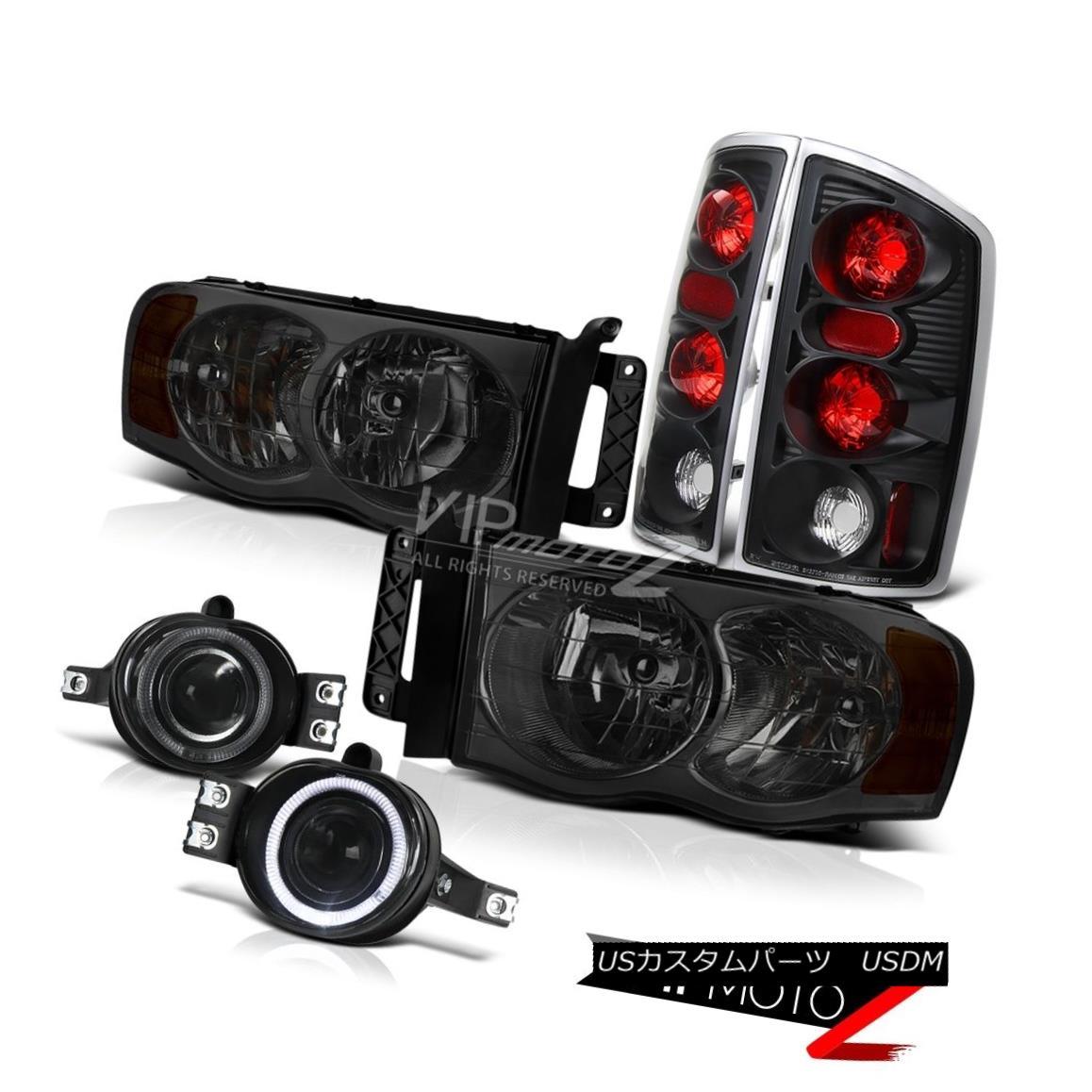 ヘッドライト 2002-05  Dodge Ram  SMOKE HeadLight BLACK TAIL LIGHT SMOKE PROJECTOR FOG LIGHT 2002-05   Dodge Ram   SMOKEヘッドライトブラックテールライト喫煙プロジェクターフォグライト