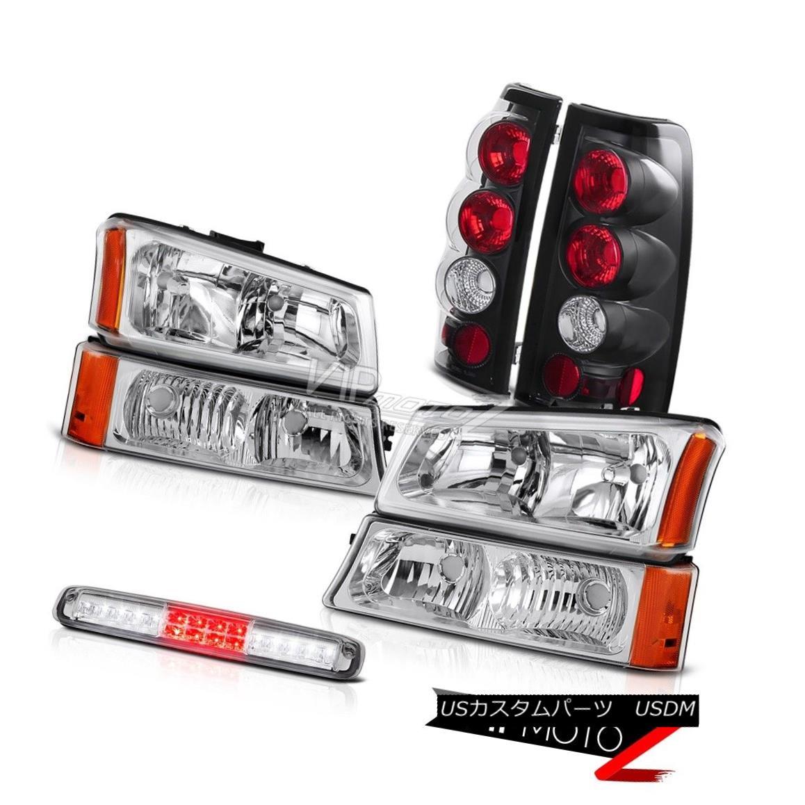 ヘッドライト 03 04 05 06 Silverado Chrome Parking Light High Stop Lamp Headlamps Tail Lights 03 04 05 06 Silverado Chrome Parking Lightハイストップランプヘッドランプテールライト