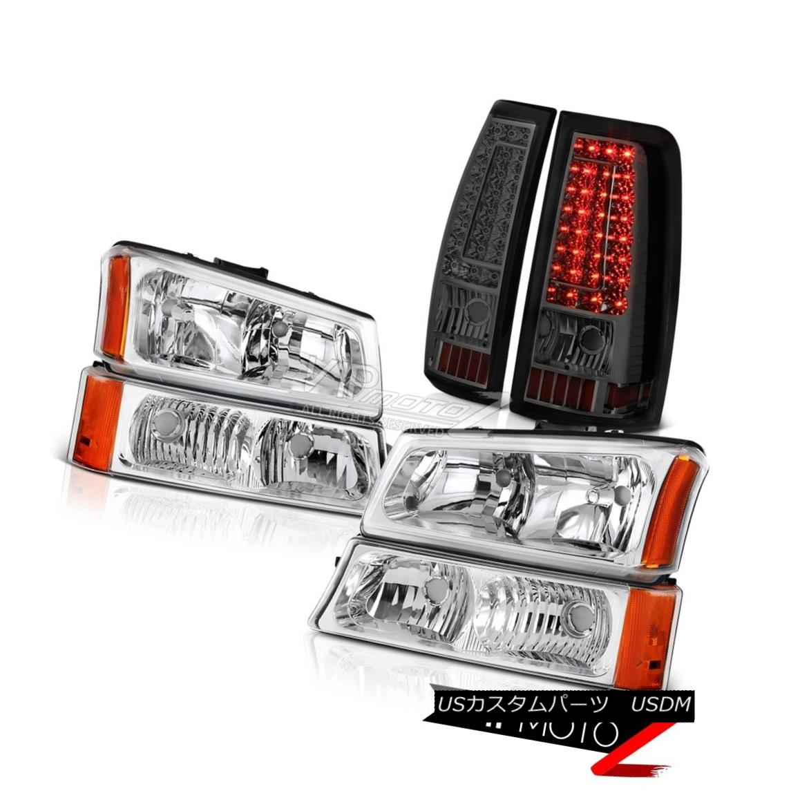 ヘッドライト 03 04 05 06 Chevy Silverado 1500 Phantom Smoke Tail Lamps Euro Clear Headlights 03 04 05 06 Chevy Silverado 1500ファントム煙テールランプユーロクリアヘッドライト