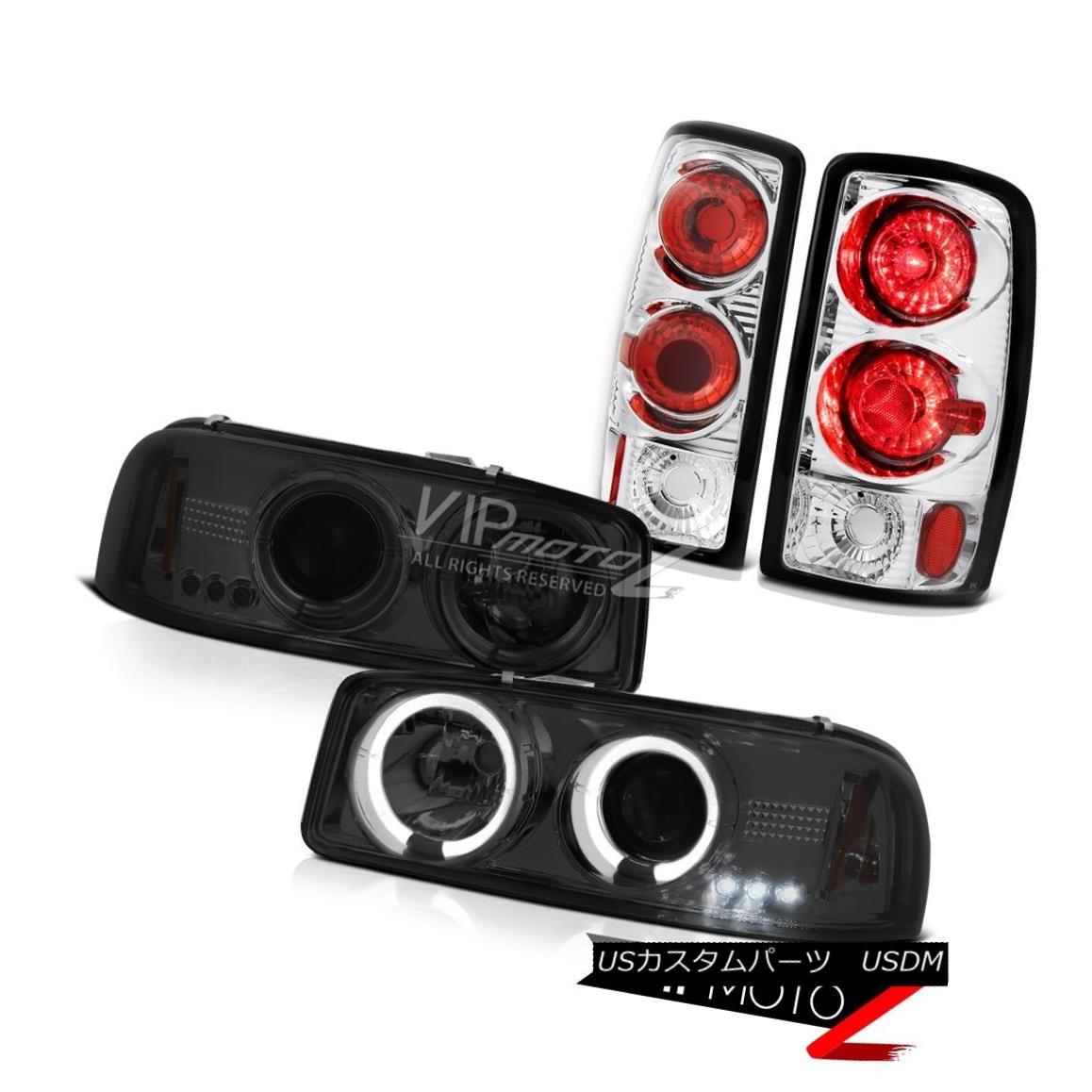 ヘッドライト GMC Denali Tinted Halo LED Headlights 00 01 02 03 04 Yukon Rear Brake Tail Light GMCデナリティンテッドハローLEDヘッドライト00 01 02 03 04ユーコンリアブレーキテールライト