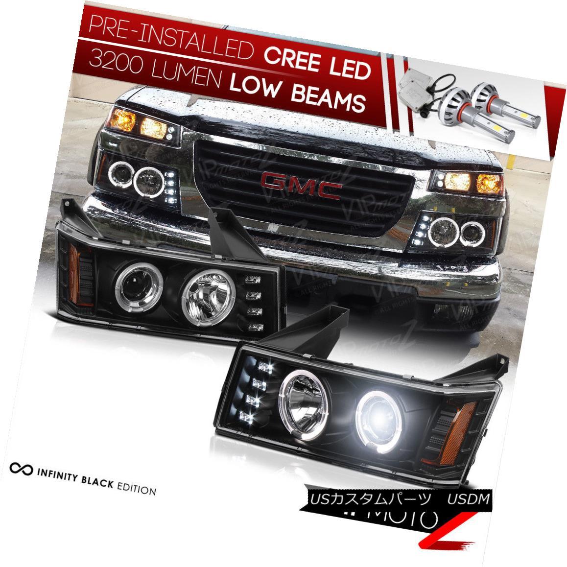 ヘッドライト [CREE LED LOW BEAM] 2004-2012 Chevy Colorado GMC Canyon Halo Projector Headlamp [CREE LED LOW BEAM] 2004-2012シボレー・コロラドGMCキャニオン・ハロー・プロジェクター・ヘッドランプ