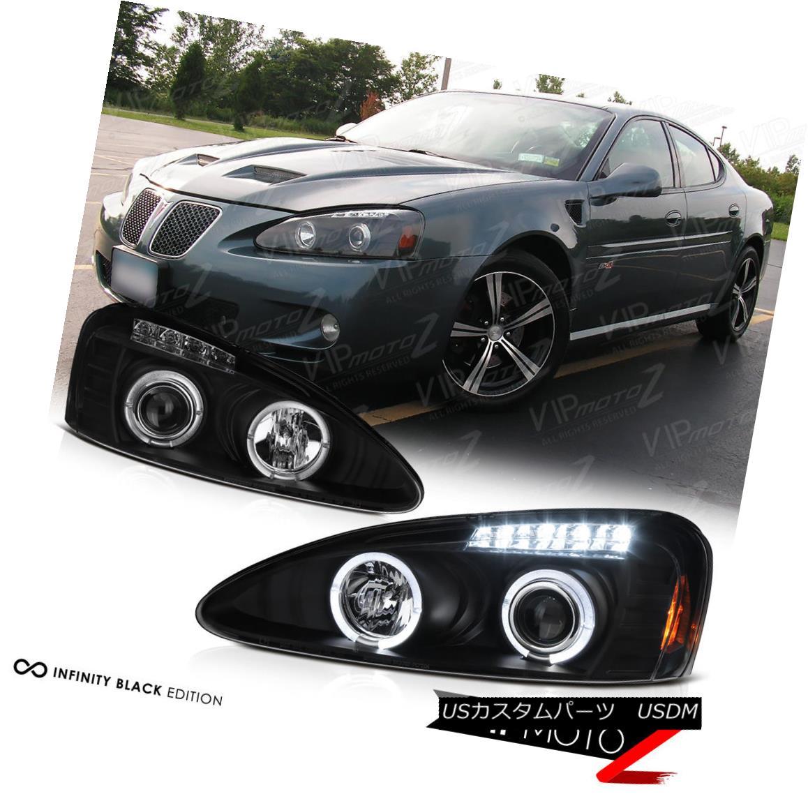 ヘッドライト Black Halo Angel Eye Projector Headlight 04-08 Pontiac Grand Prix GT1 GT2 GTP ブラックハローエンジェルアイプロジェクターヘッドライト04-08ポンティアックグランプリGT1 GT2 GTP