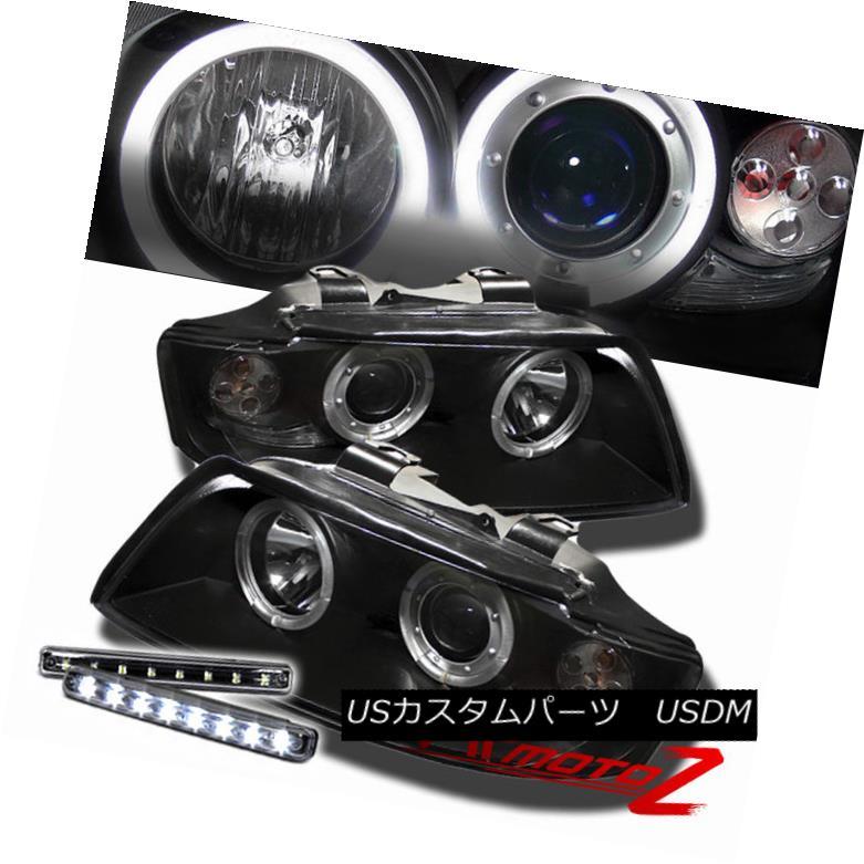 ヘッドライト >>LED LIGHT BAR KIT<< 2002-2005 A4/S4 1PC Black Projector Headlight Halo Lamp &gt;&lt; LEDライトバーキット&lt; 2002-2005 A4 / S4 1PCブラックプロジェクターヘッドライトハローランプ