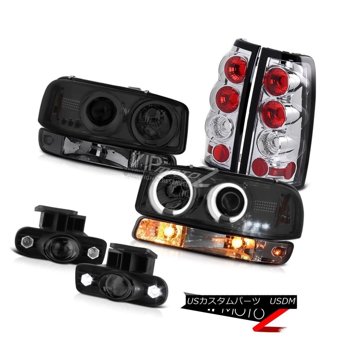 ヘッドライト 99-02 Sierra SL Fog lights crystal clear taillamps parking light ccfl headlamps 99-02シエラSLフォグライトクリスタルクリアテールランプパーキングライトccflヘッドライト
