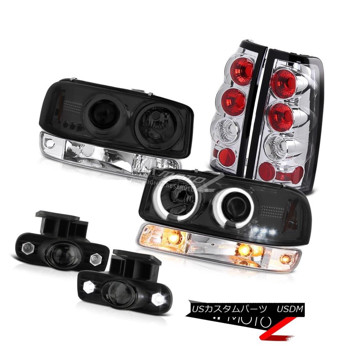 ヘッドライト 99-02 Sierra C3 Fog lights chrome rear brake lamps signal light ccfl headlamps 99-02シエラC3フォグライトクロームリアブレーキランプシグナルライトccflヘッドライト