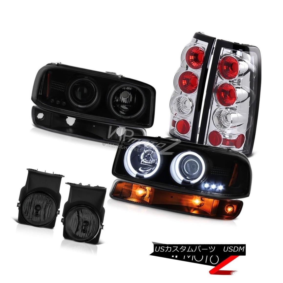 ヘッドライト 03-06 Sierra SLE Foglamps chrome taillights black turn signal ccfl headlights 03-06 Sierra SLE Foglampsクロームテールライトブラックターンシグナルccflヘッドライト