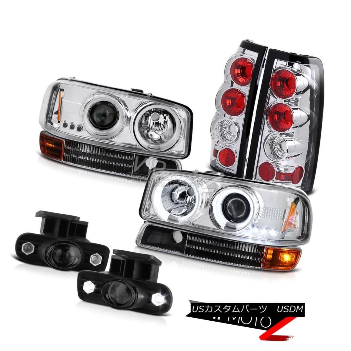 車用品 大規模セール バイク用品 >> パーツ ライト ランプ ヘッドライト 99-03 Sierra 6.0L V8 完売 V8ヘッドライトCCFLエンジェルアイテールライトガラスプロジェクターフォグ Lights Glass Eye Fog Angel Projector Tail w Headlights CCFL