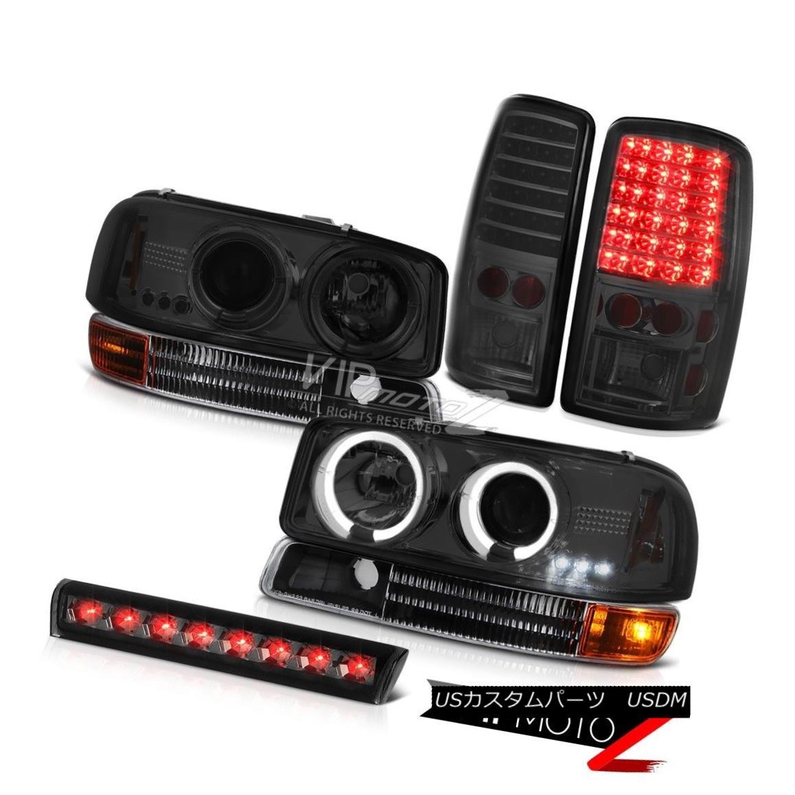 ヘッドライト Halo Projector Smoke Headlight Signal LED TailLight Roof Stop 00-06 GMC Yukon XL ヘイロープロジェクタースモークヘッドライト信号LEDテールライトルーフストップ00-06 GMC Yukon XL