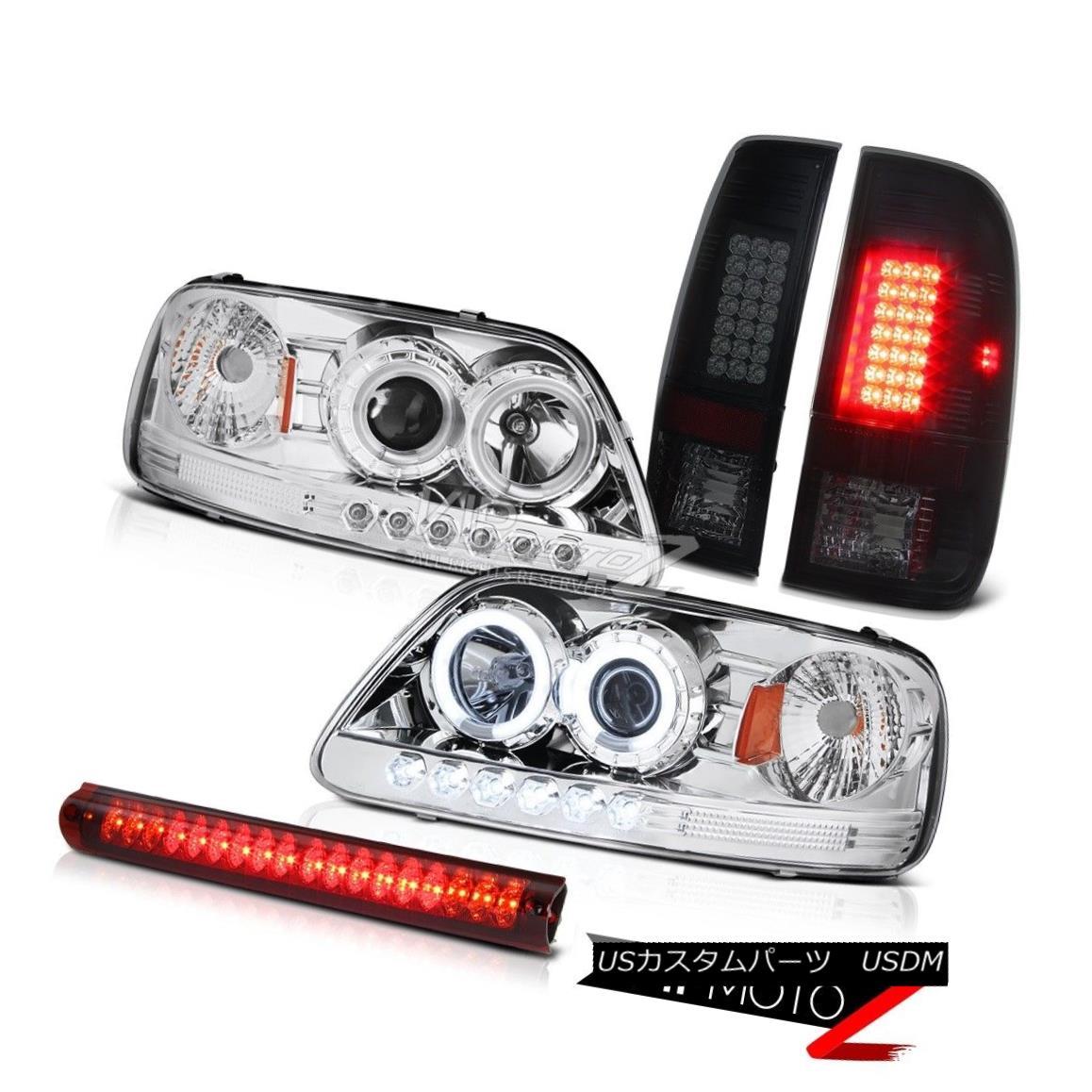 ヘッドライト Headlight CCFL Angel Eye Rear Brake Tail Light LED Roof Stop Lamp Red 97-03 F150 ヘッドライトCCFLエンジェルアイリアブレーキブレーキテールライトLED屋根ストップランプレッド97-03 F150