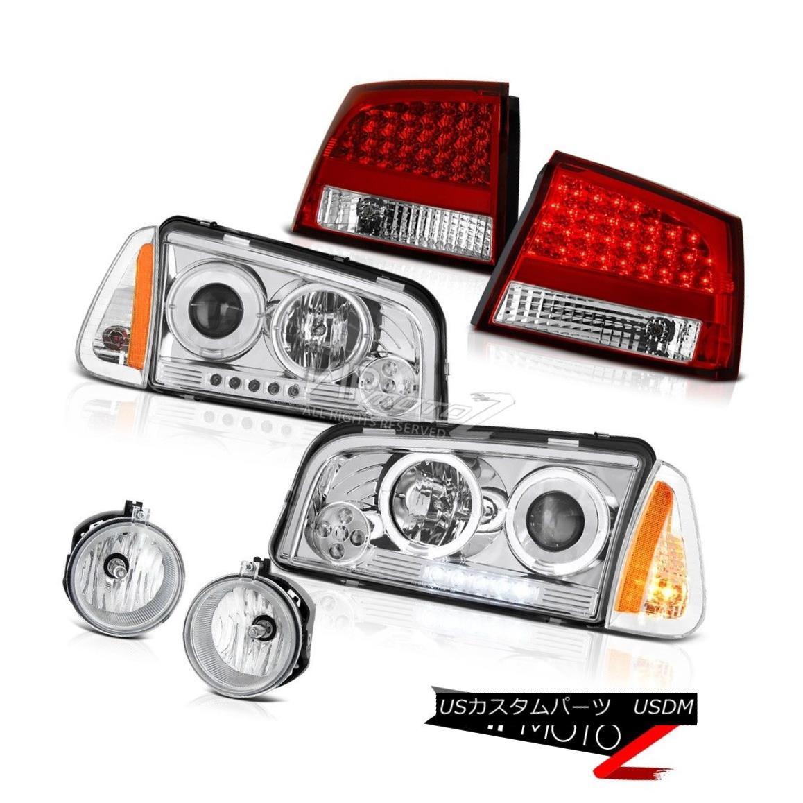 ヘッドライト 09-10 Dodge Charger SXT Fog lamps bloody red taillights signal lamp headlights 09-10ダッジチャージャーSXTフォグランプピンクの赤いテールライト信号灯ヘッドライト