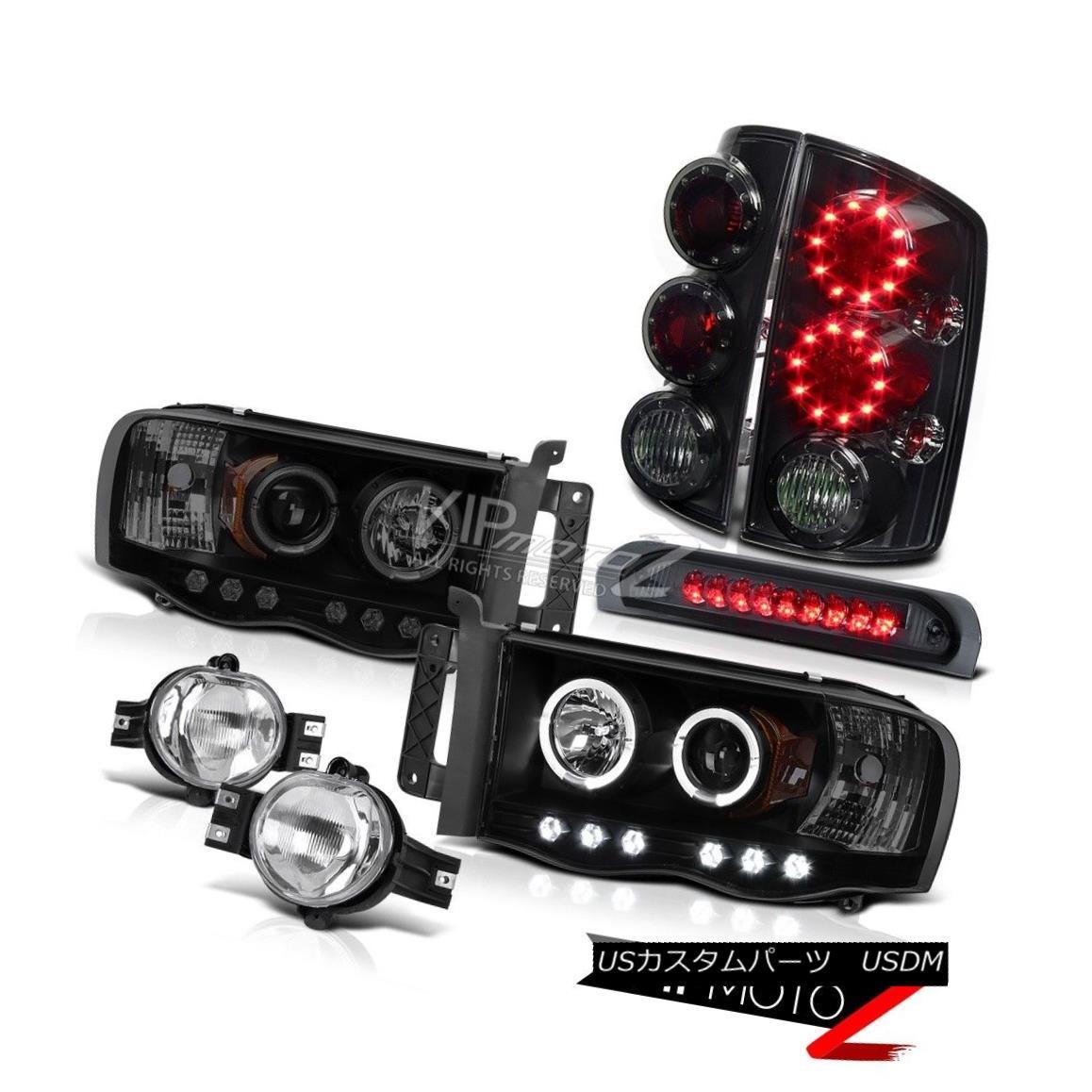 ヘッドライト Dodge Ram Halo SINSTER BLACK Headlights Smoke LED Brake Lamps Driving Fog Cargo Dodge Ram Halo SINISTER BLACKヘッドライトスモークLEDブレーキランプフォグカーゴ