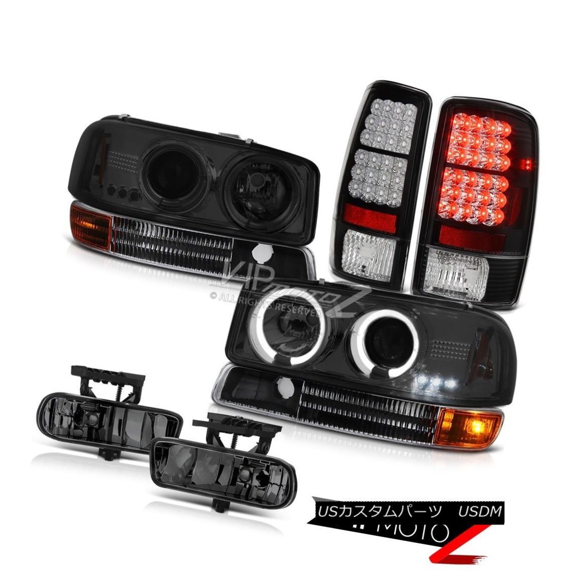 ヘッドライト 00-06 Yukon XL GMT800 Headlamps Angel Eye Halo Signal Brake Tail Lights FogLamps 00-06ユーコンXL GMT800ヘッドランプエンジェルアイハロー信号ブレーキテールライトフォグランプ