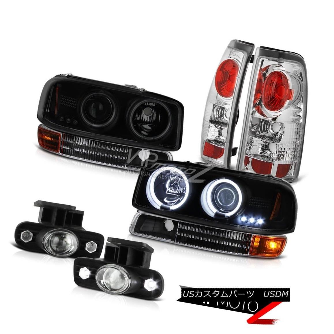 ヘッドライト CCFL Angel Eye Headlight Brake Lamps Projector Bumper Fog 99-03 Sierra 2500 3500 CCFLエンジェルアイヘッドライトブレーキランププロジェクターバンパーフォグ99-03 Sierra 2500 3500