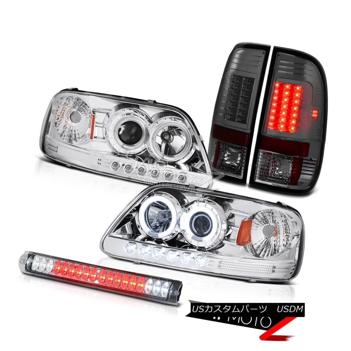 Lamp V6 Lamp Tinted ヘッドライト Chrome Halo Chrome F150 V6 1997 プロジェクターヘッドライトHalo 98 Ring LED Lights 98 Headlight Tail RingテールライトLED 1997 F150 Tinted Projector