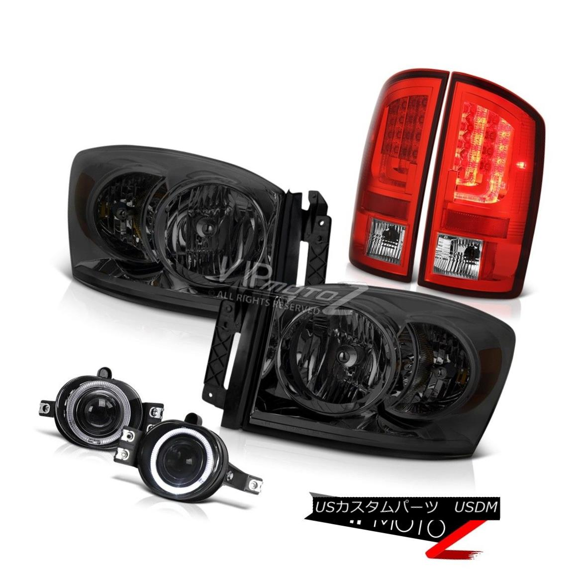 ヘッドライト 2006 Ram 3.7L Wine Red Tail Brake Lamps Headlamps Fog Oe STyle