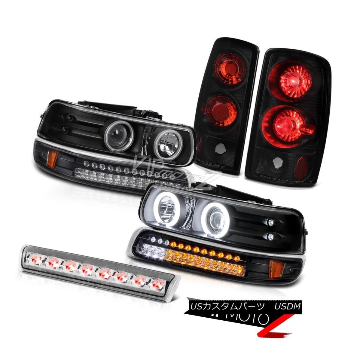 ヘッドライト 2X Black CCFL Projector Headlights LED Rear Lamps 3rd Brake 2000-06 Suburban LS 2XブラックCCFLプロジェクターヘッドライトLEDリアライト第3ブレーキ2000-06郊外LS