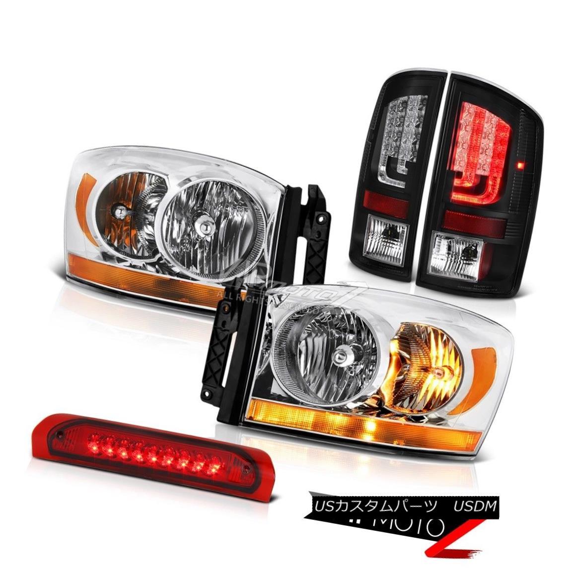 ヘッドライト 2007-2008 Dodge Ram 1500 4.7L Taillamps Headlamps 3RD Brake Light Tron Tube LED 2007-2008ダッジラム1500 4.7Lタイルランプヘッドランプ3RDブレーキライトトロンチューブLED