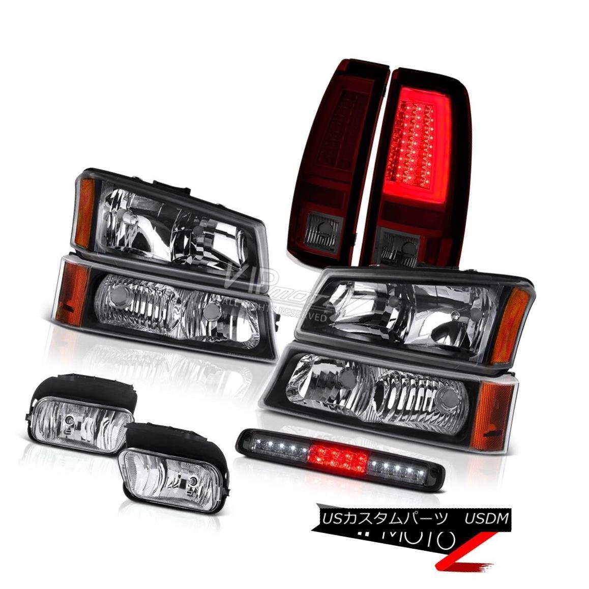 ヘッドライト 03-06 Silverado 1500 Tail Lamps Headlights Foglamps Smoked Roof Cab Light LED 03-06 Silverado 1500テールランプヘッドライトフォグランプスモークルーフキャブライトLED