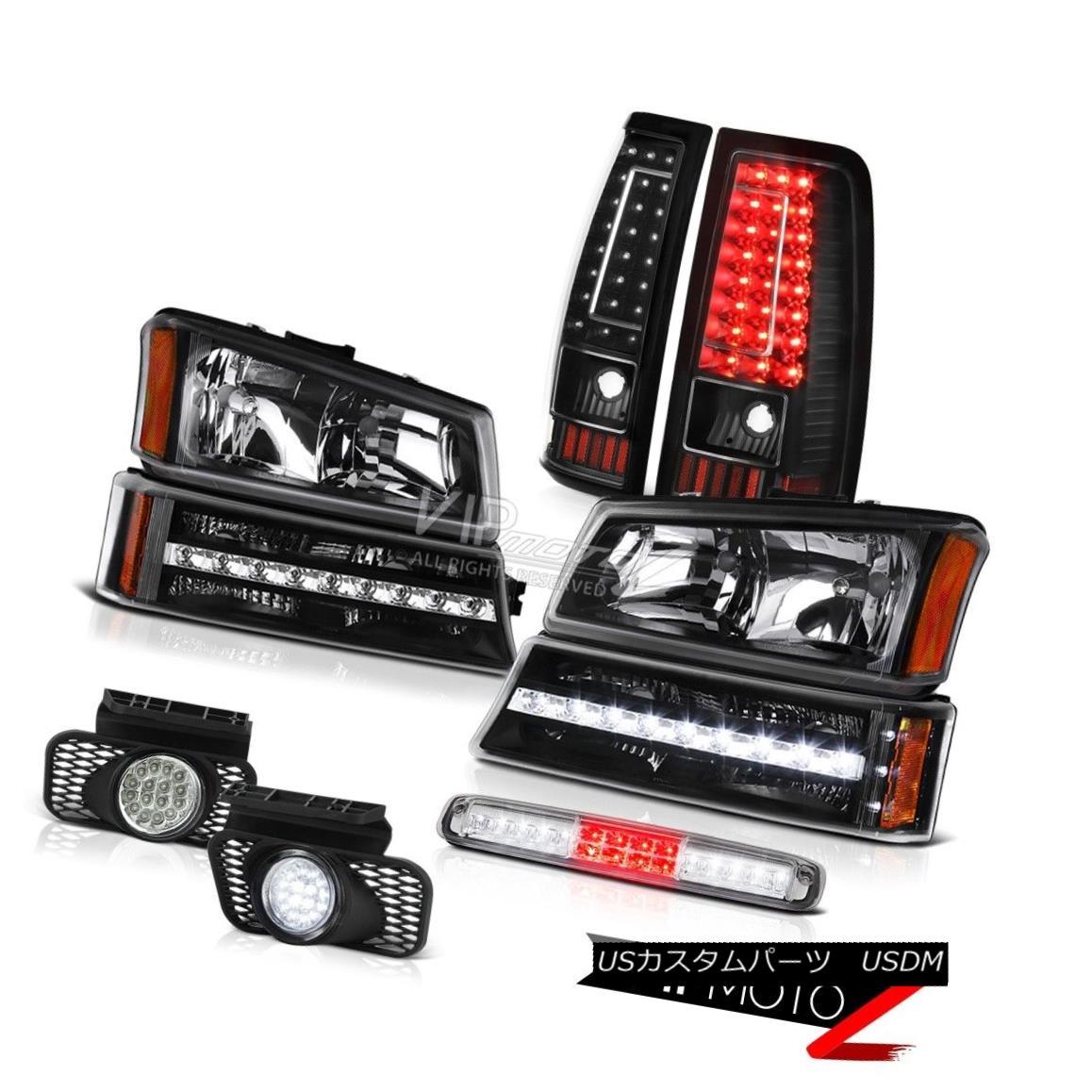 ヘッドライト 03-06 Silverado Chrome 3RD Brake Light Fog Lights Tail Bumper Headlamps LED SMD 03-06 Silverado Chrome 3RDブレーキライトフォグライトテールバンパーヘッドランプLED SMD