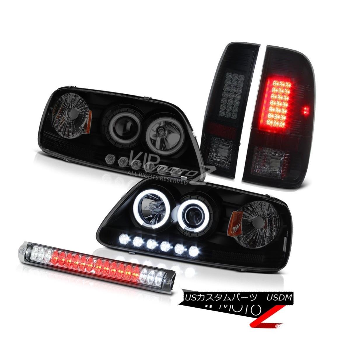 ヘッドライト Headlight w/CCFL Halo Ring Smoke Black LED Tail Light F150 Lariat 2001 2002 2003 ヘッドライト付きCCFLハローリングスモークブラックLEDテールライトF150 Lariat 2001 2002 2003