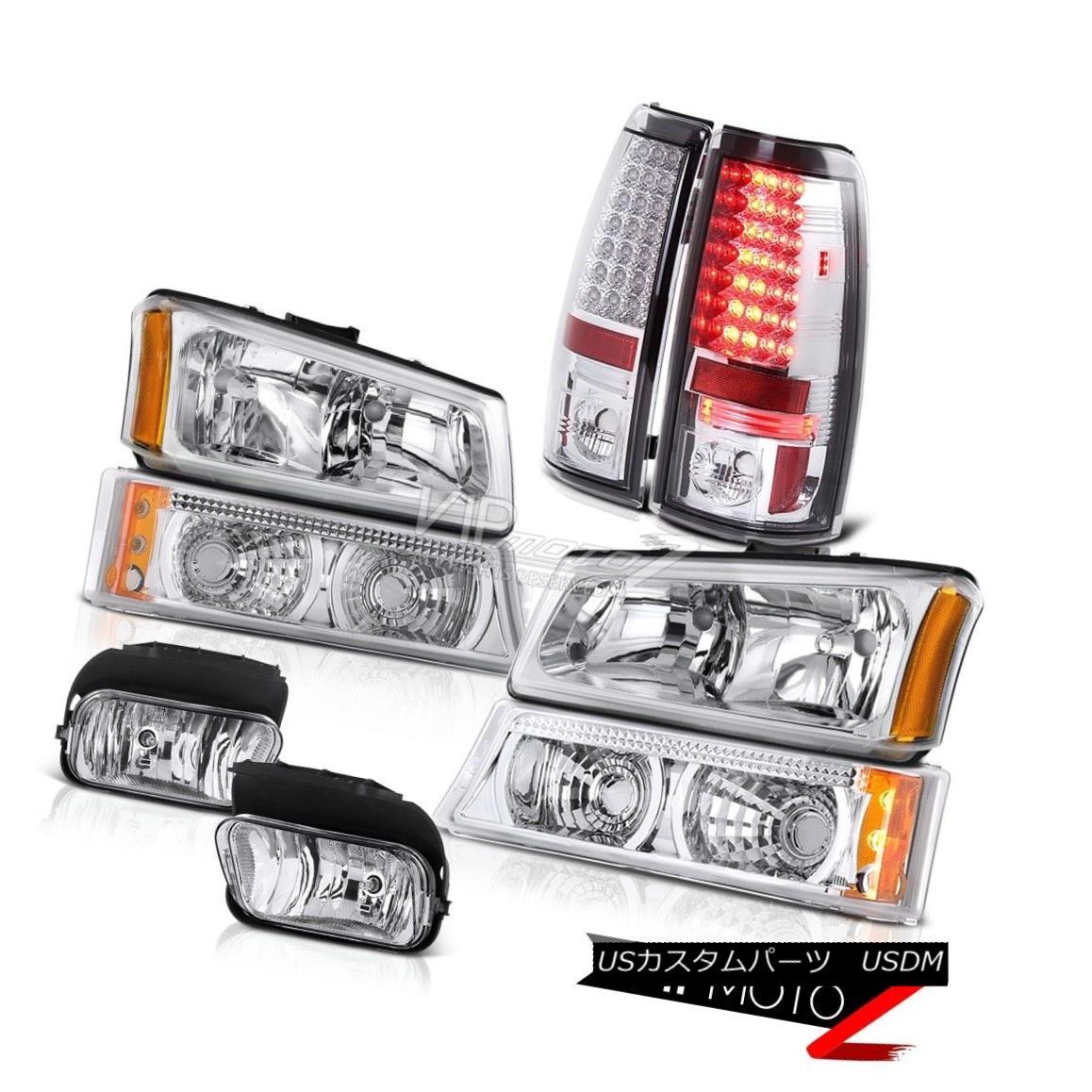 ヘッドライト Headlights Headlamp 05 06 Silverado Signal Bumper Lights LED Taillamp Chrome Fog ヘッドライトヘッドランプ05 06 Silverado信号バンパーライトLED Taillamp Chrome Fog